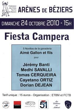 affiche beziers 24/10/2010